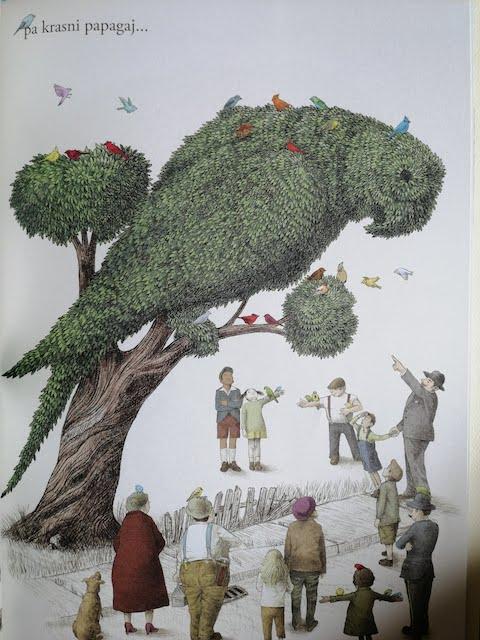 stablo oblikovano u papagaja