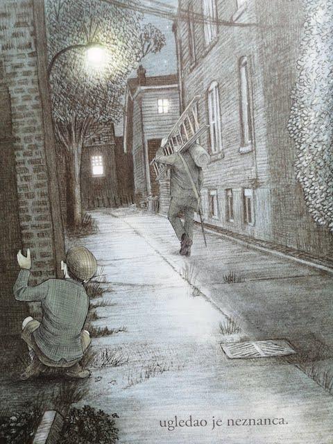 djecak slijedi neznanca