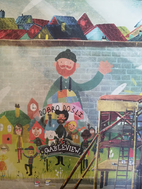 div naslikan na muralu