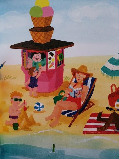 Olga prodaje sladoled na plaži