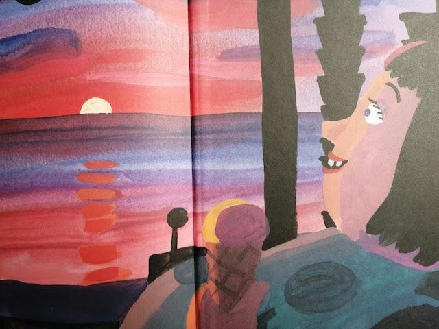 Olga promatra zalazak sunca