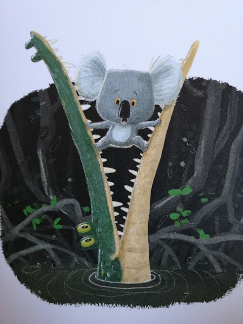 koala se boji krokodila