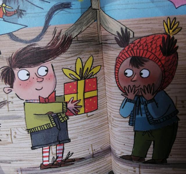 dječak daje poklon Nevenu