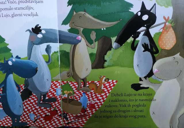 Debeli Lujo upoznaje Vuka sa svojim prijateljima vukovima