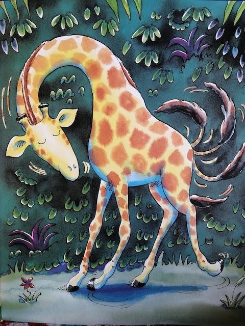 žirafa pleše