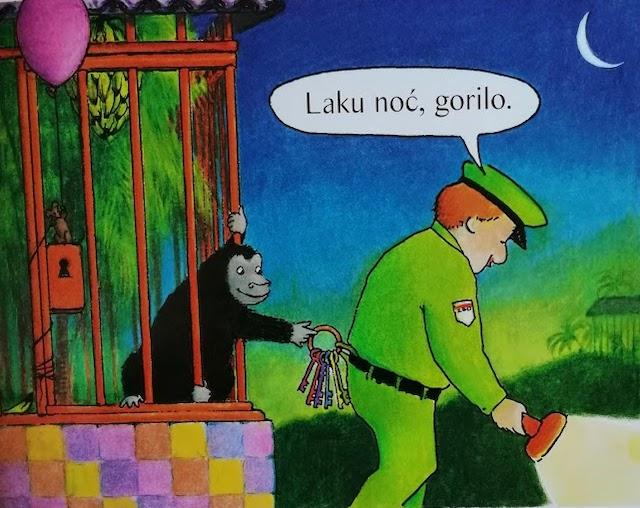 gorila krade ključeve čuvaru