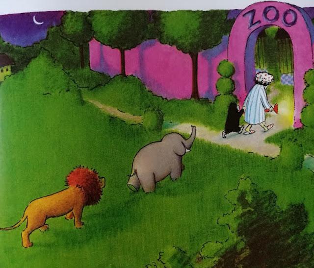 žena vraća životinje u zoo