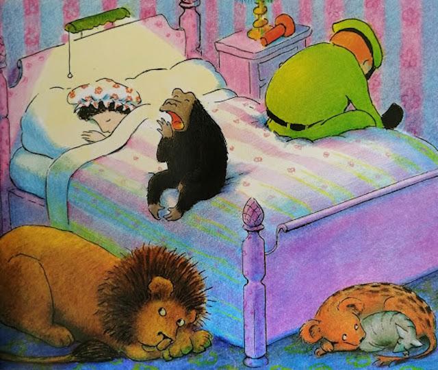 životinje spavaju u sobi