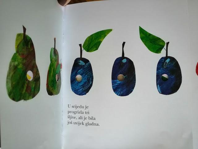gusjenica jede voće