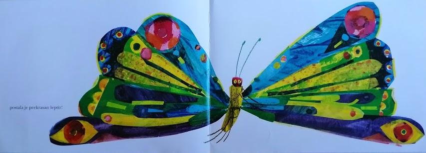 gusjenica je postala leptir